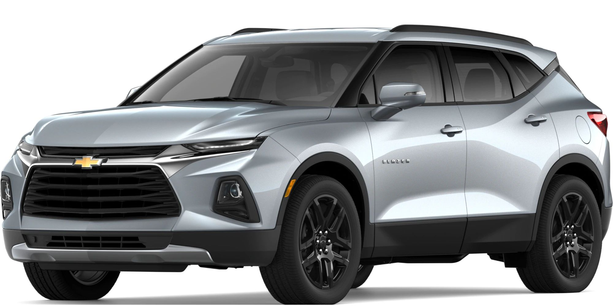 2019 Chevy Blazer Exterior Driver Side Front Profile in Silver Ice Metallic