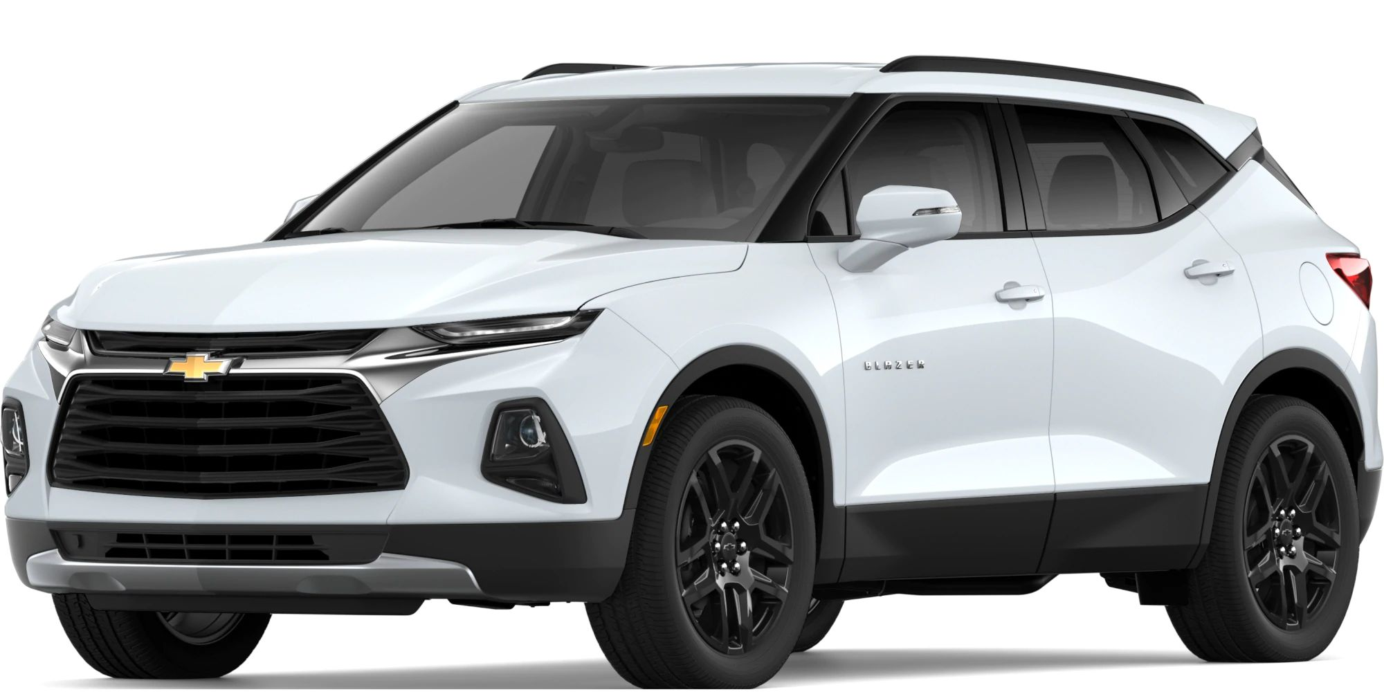 2019 Chevy Blazer Exterior Driver Side Front Profile in Summit White
