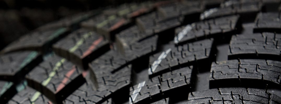 close up of tire treads