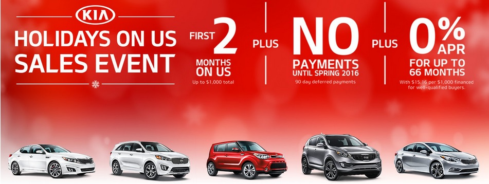 Kia Promotion Holidays On Us Five Months Free
