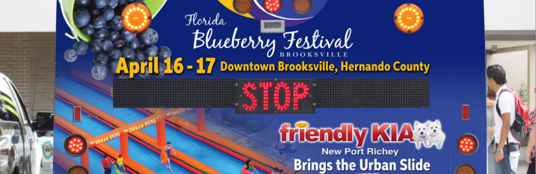 2016 Florida Blueberry Festival Pasco County FL Friendly Kia New Port Richey Tampa St. Petersburg 1,000-foot urban slide ride