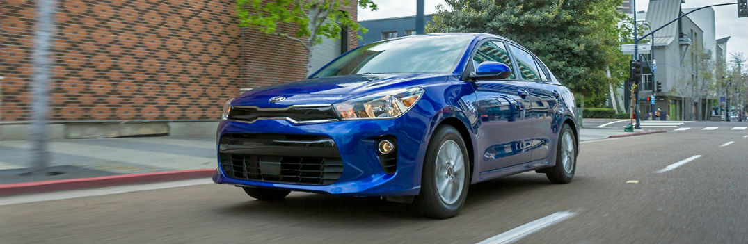 2018 Kia Rio subcompact Deep Sea Blue paint color