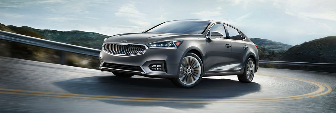 2017 Kia Cadenza large sedan on the open road