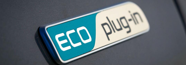 ... Kia Niro Plug In Hybrid Badge Shown On Gray Niro Body