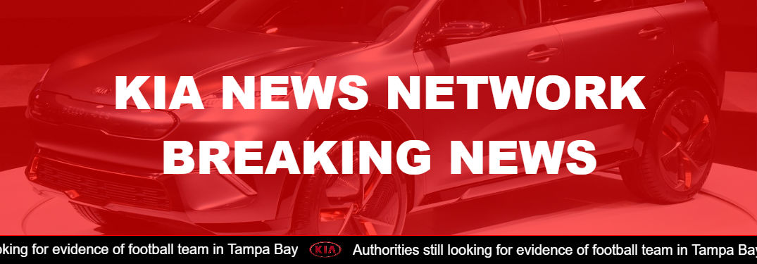 kia news network header image created with scrolling fake marquee banner