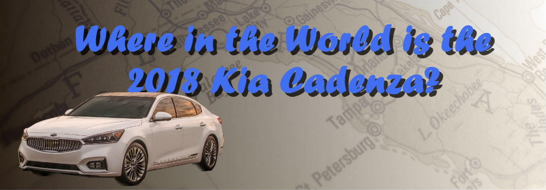 2018 kia cadenza specs and release date friendly kia 2018 kia cadenza in white over a map of florida with text where in the world sciox Choice Image
