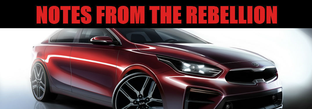 notes from the rebellion header over 2019 kia forte concept artwork