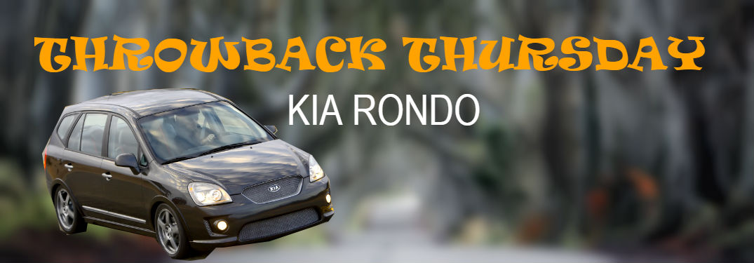 Kia rondo with title throwback thursday kia rondo
