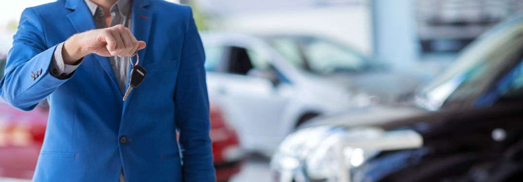 car buying tips salesman stock photo