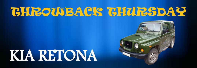 kia retona gainst blue background with title throwback thursday kia retona