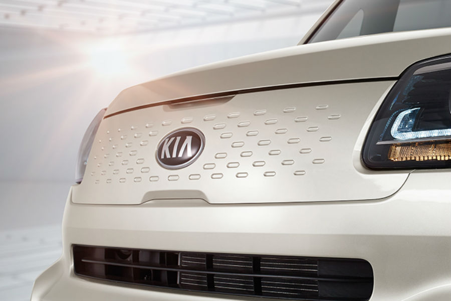 white grille of 2018 kia ray ev