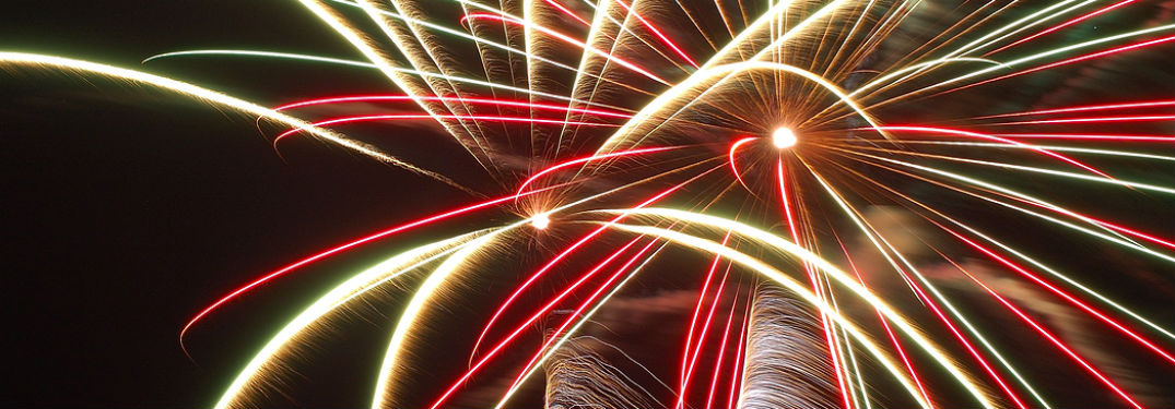 fireworks exploding for fourth of july