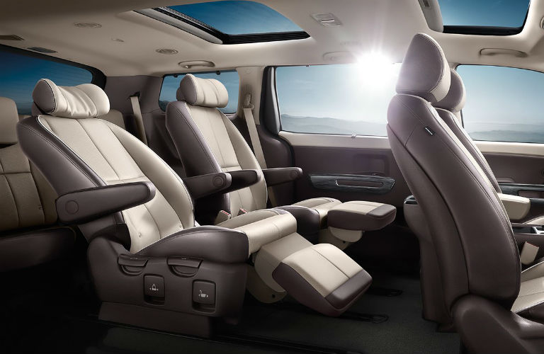 2018 kia sedona interior with reclining footrests