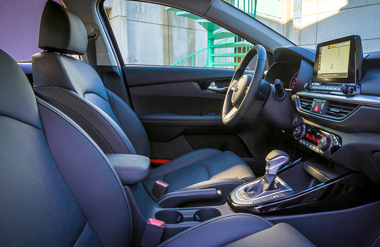interior of 2019 kia forte from passenger side