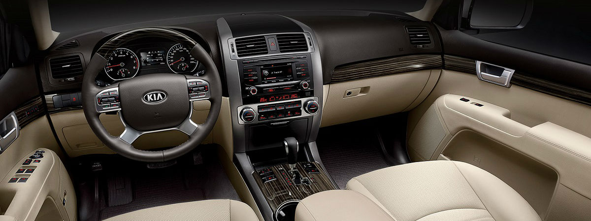 interior of 2018 kia mohave borrego from aruba