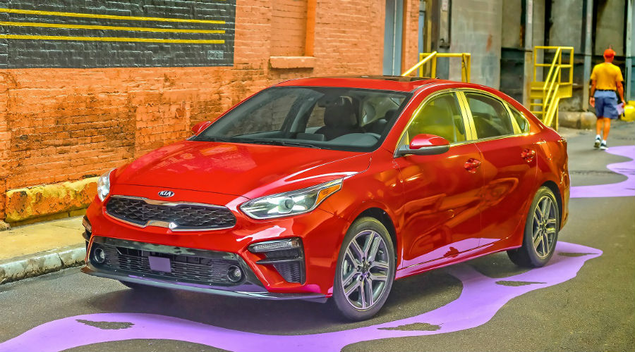 2019 kia forte from the outside