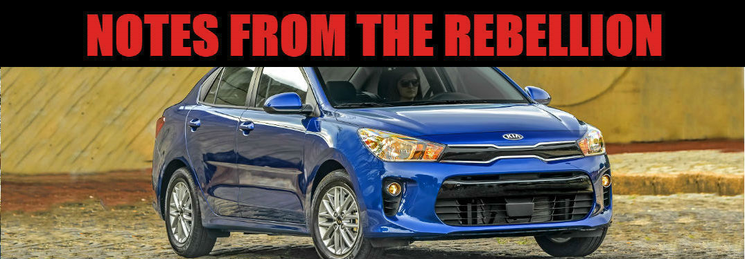 notes from the rebellion header with kia rio 2019 model