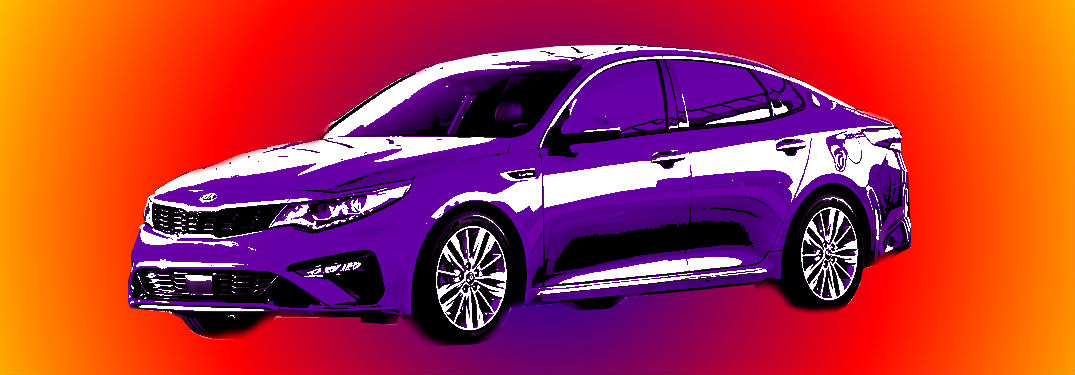 artistic rendering of 2019 kia optima on gradient background