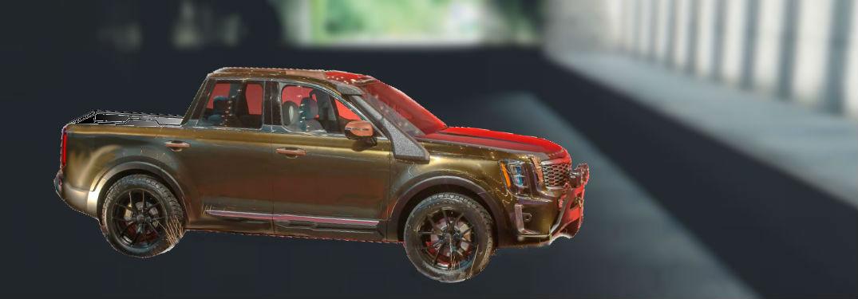 mocked up Kia Telluride pickup truck