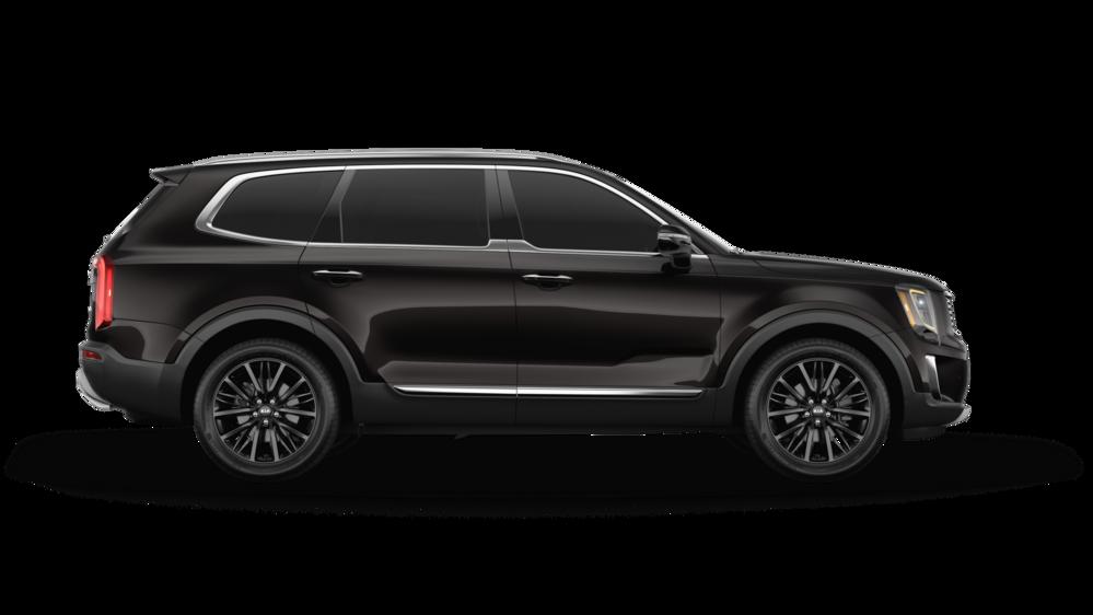2020 kia telluride on white background in color black Copper