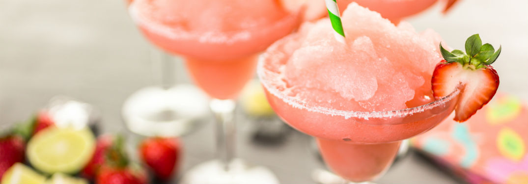 chilled strawberry margaritas