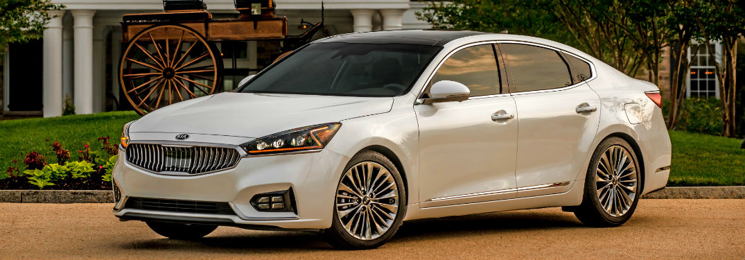 2019 Kia Cadenza in front of an upscale house