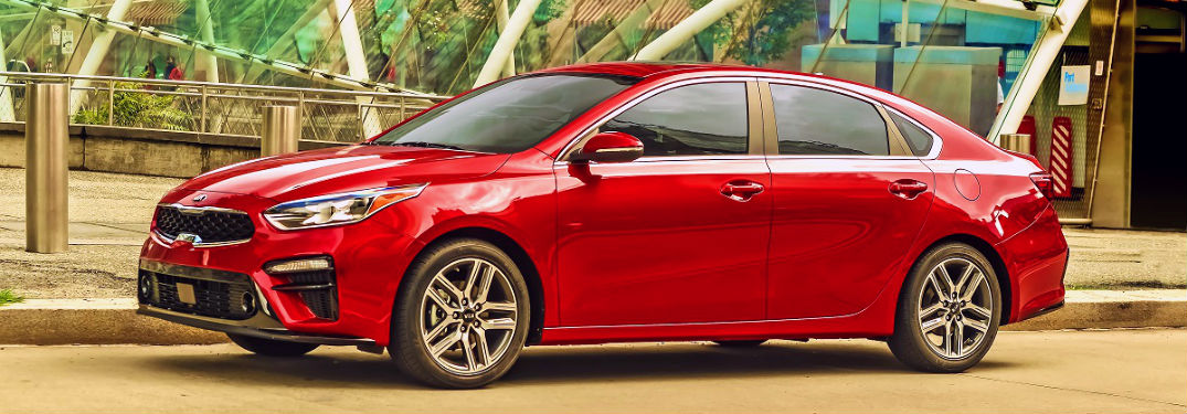 red 2020 kia forte profile