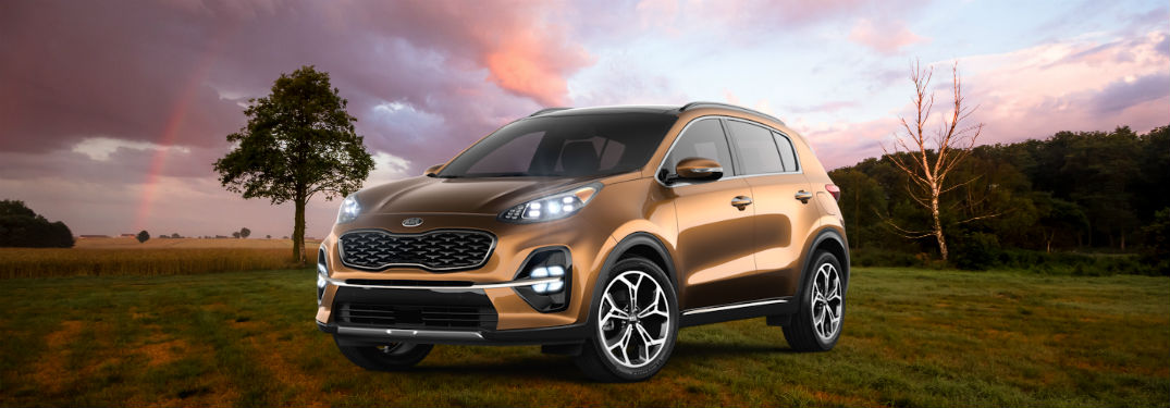 2020 kia sportage against cloudy background