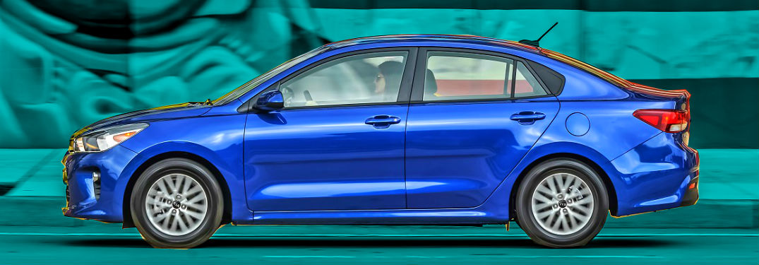profile of blue 2019 kia rio