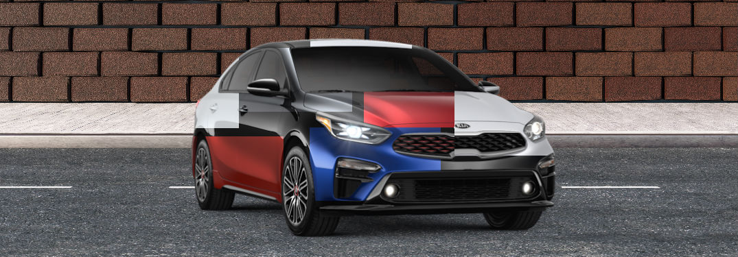 2020 kia forte with composite blend of colors