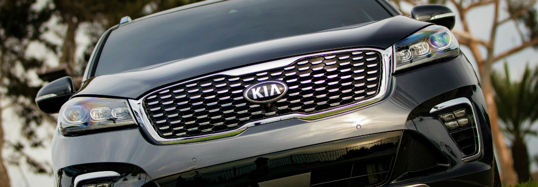 2019 Kia Sorento grille up close