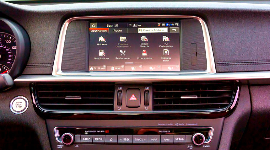 infotainment system in 2020 kia optima