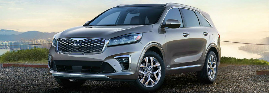 2019 Kia Sorento header image brown side front view