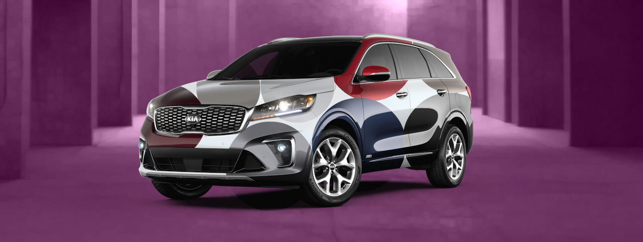composite image showing all the colors of the 2020 kia sorento