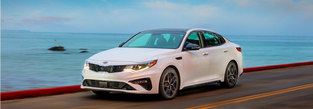 2020 kia optima driving on the coast