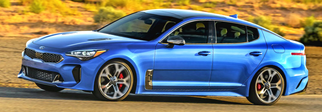 blue 2020 kia stinger gt awd