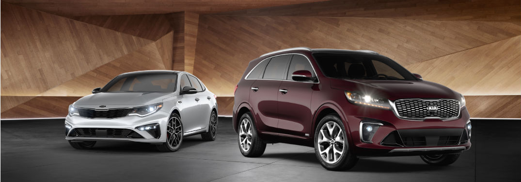 kia optima and kia sorento side by side