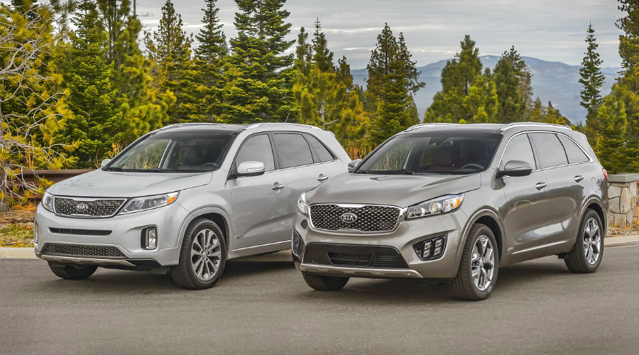 comparison of 2015 and 2016 kia sorento on shore
