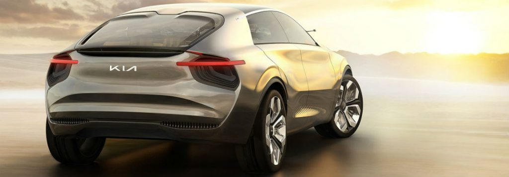 rear of Kia imagine crossover