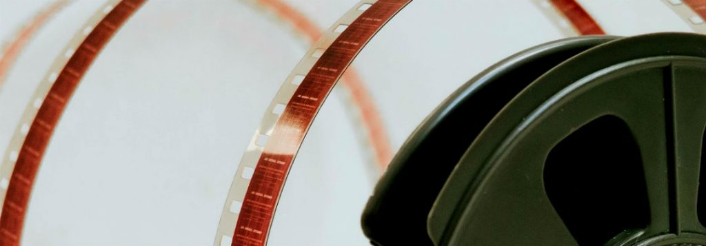 celluloid film reel stacked