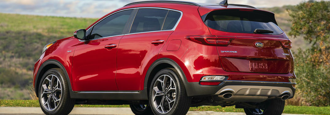 rear three quarter shot of the 2020 kia sportage SUV