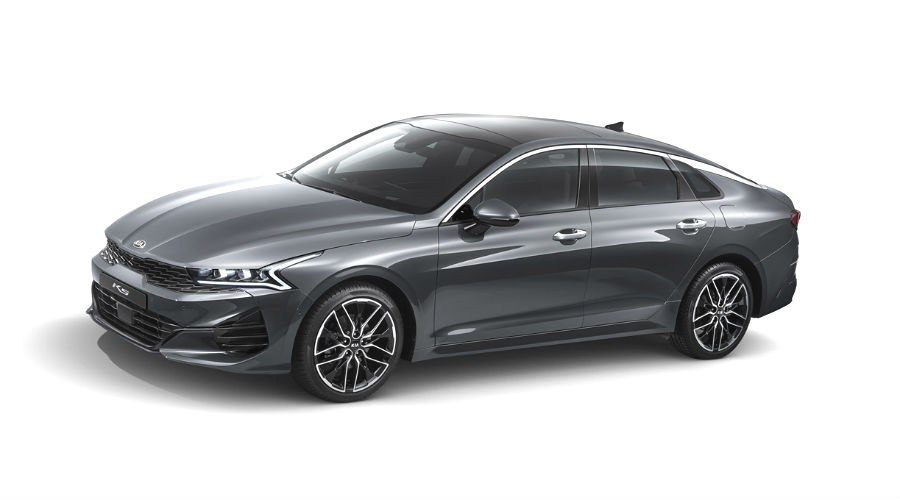 exterior of 2021 kia optima k5 in gray