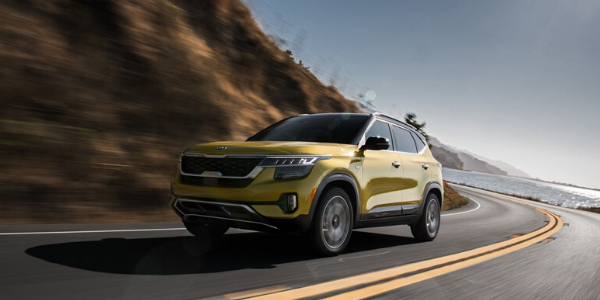 Yellow 2021 Kia Seltos