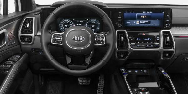 Steering wheel in 2021 Kia Sorento