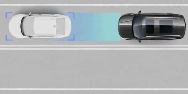 Graphic of Kia Drive Wise Forward Collision-Avoidance Assist