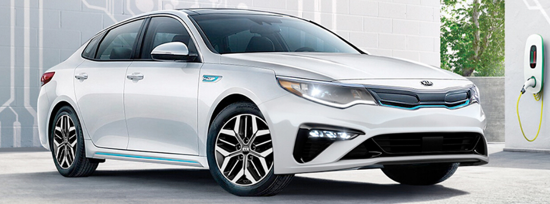 White 2020 Kia Optima Plug-In Hybrid