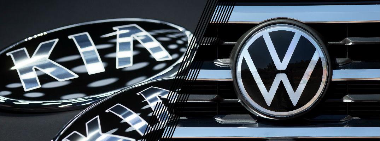 Kia logo and Volkswagen Logo