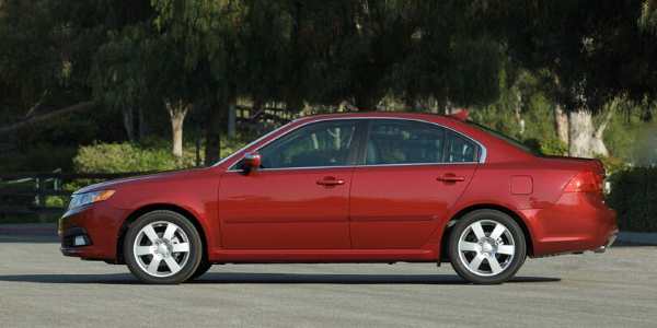 Side view of 2009 Kia Optima