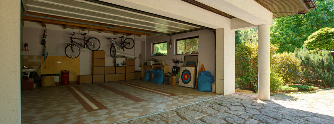Interior view of home garage