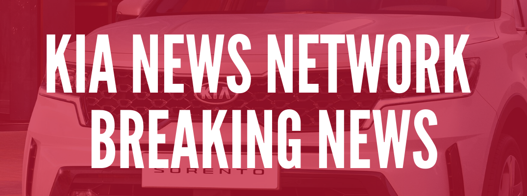 "Closeup of Kia Sorento with red tint and ""Kia News Network Breaking News"" text"